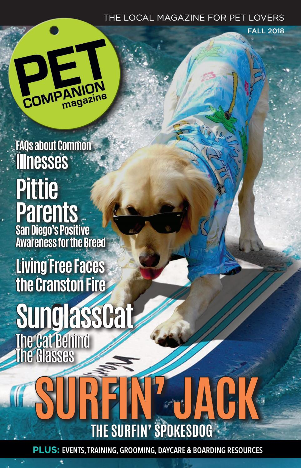 Pet Companion Magazine, Fall 2018