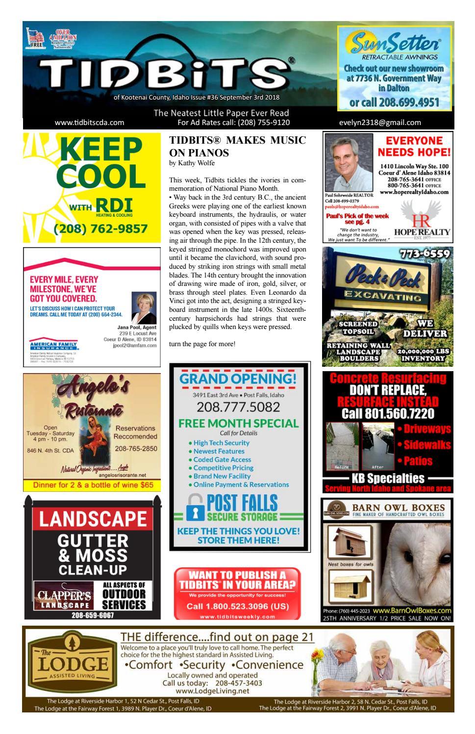 TIDBITS Issue 36 CDA 2018 by TIDBITS Kootenai County, Idaho - issuu