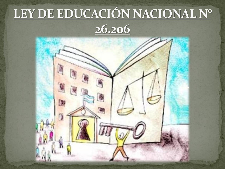 Resultado de imagen para Ley Nacional de Educación (26.206)