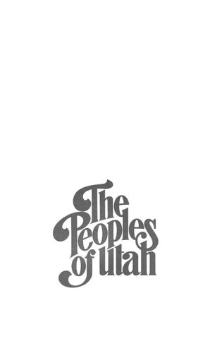 The Peoples Of Utah Edited By Helen Z Papanikolas By Utah State