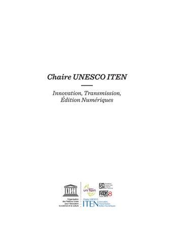 Présentation de la chaire UNESCO ITEN by Chaire UNESCO ITEN ... d72527a594f3