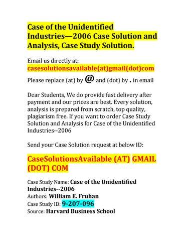 unidentified industries australia 2014 solution