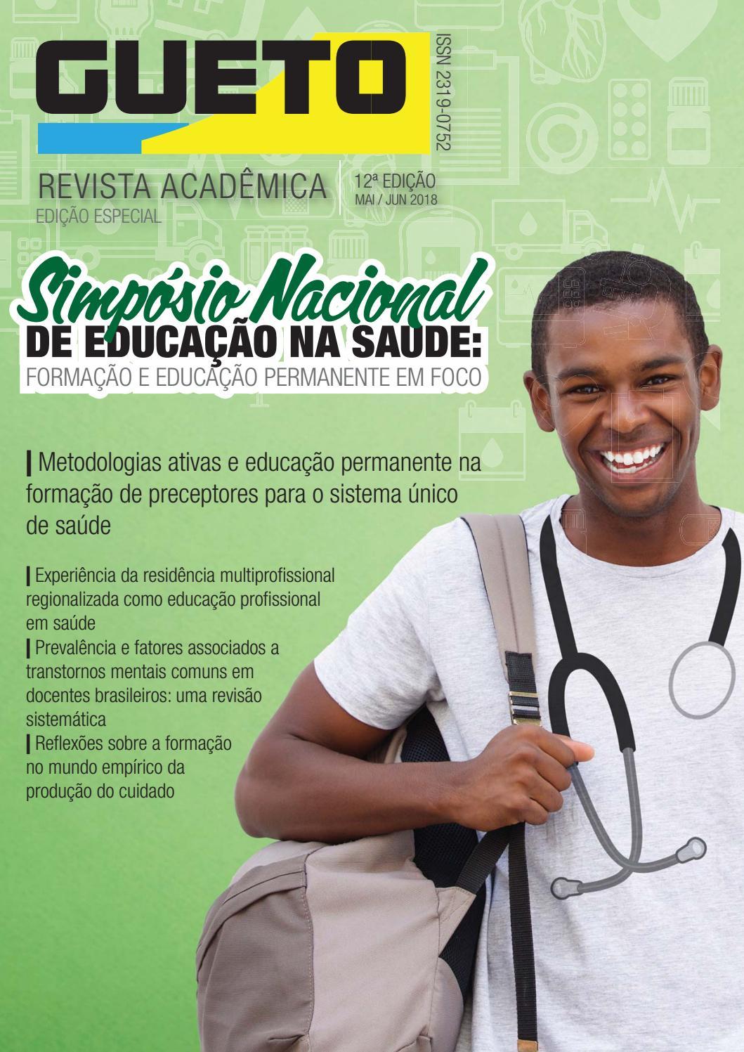 Lançada 12ª edição da Revista Acadêmica GUETO   Edição SINESA 2018 by  Revista Acadêmica GUETO - issuu e17d9a0789