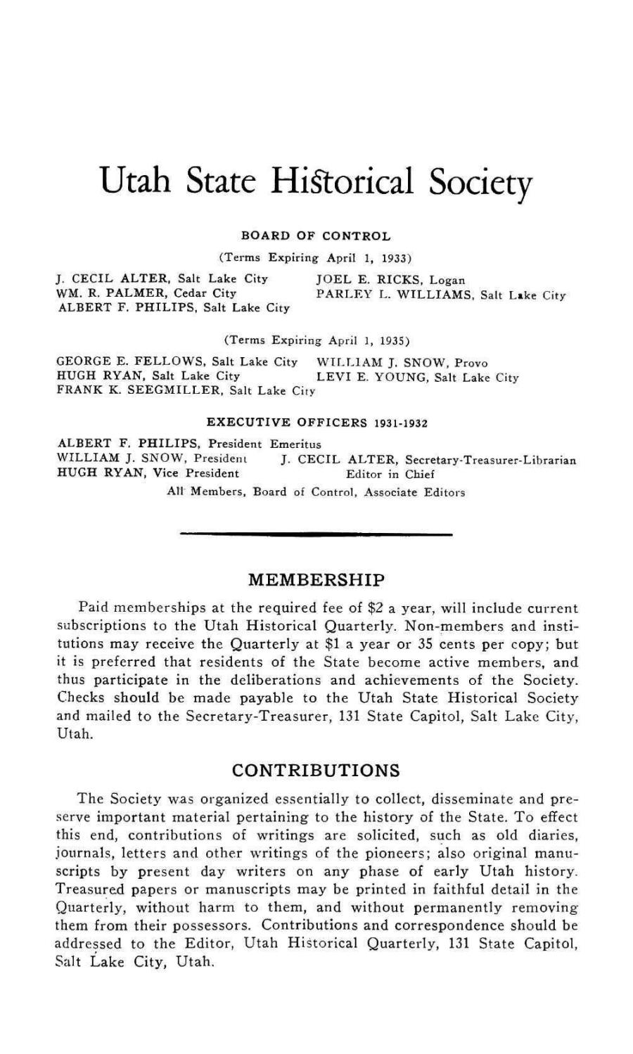 9ea9f2287e388 Utah Historical Quarterly Volume 5