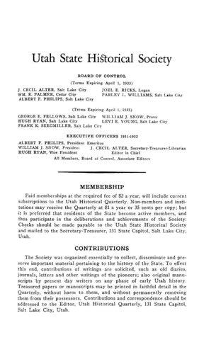 ef05459d238 Utah Historical Quarterly Volume 5