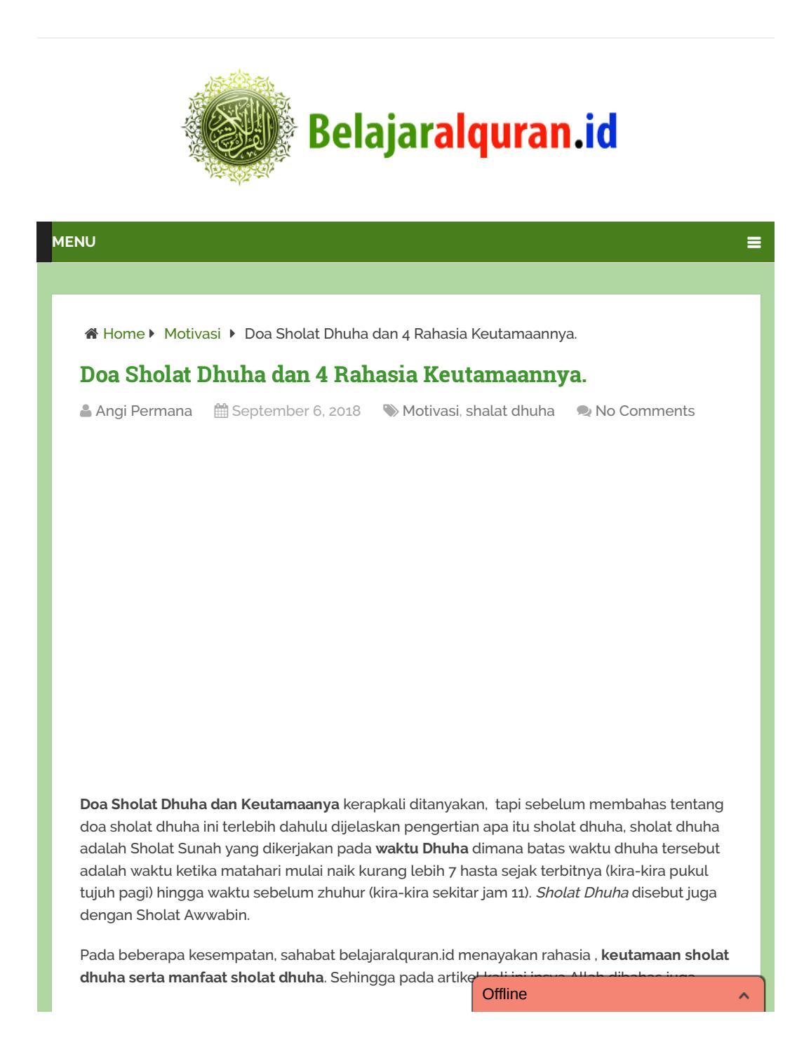 Doa Sholat Dhuha By Metoderubaiyat Issuu