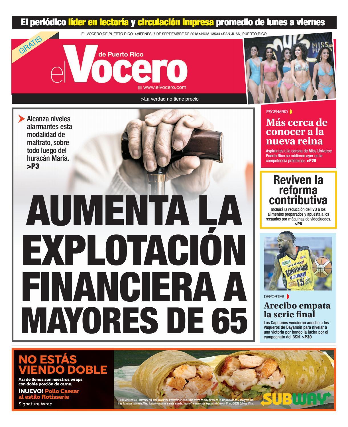 Edición del 7 de de septiembre de 2018 by El Vocero de Puerto Rico - issuu 1a42de21441