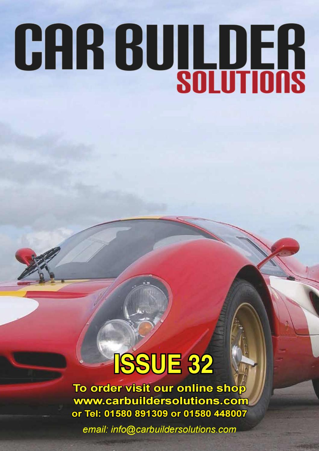 Car Builder Solutions Issue 32 By Cbsonline Issuu Diode Wiring Diagram Likewise Further Lucas Alternator