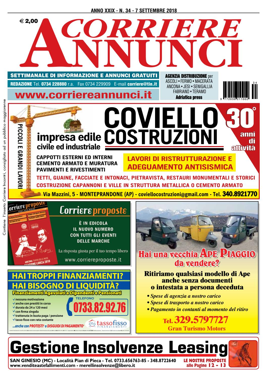 Corriere 34-2018 by Corriere Annunci - issuu afbd1927fc7