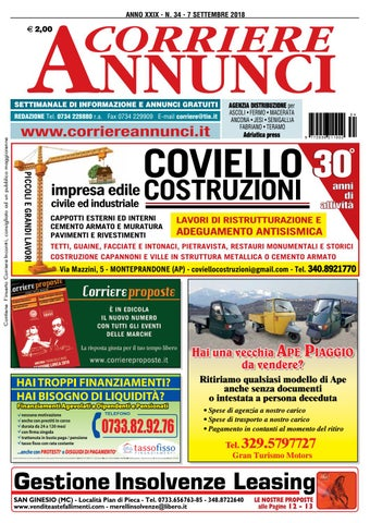 Corriere 34-2018 by Corriere Annunci - issuu ea1d729a86a