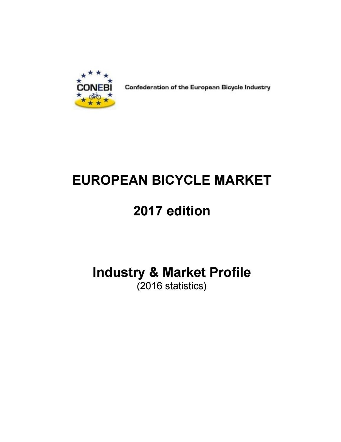 European Bicycle Industry and Market Profile 2017 with 2016