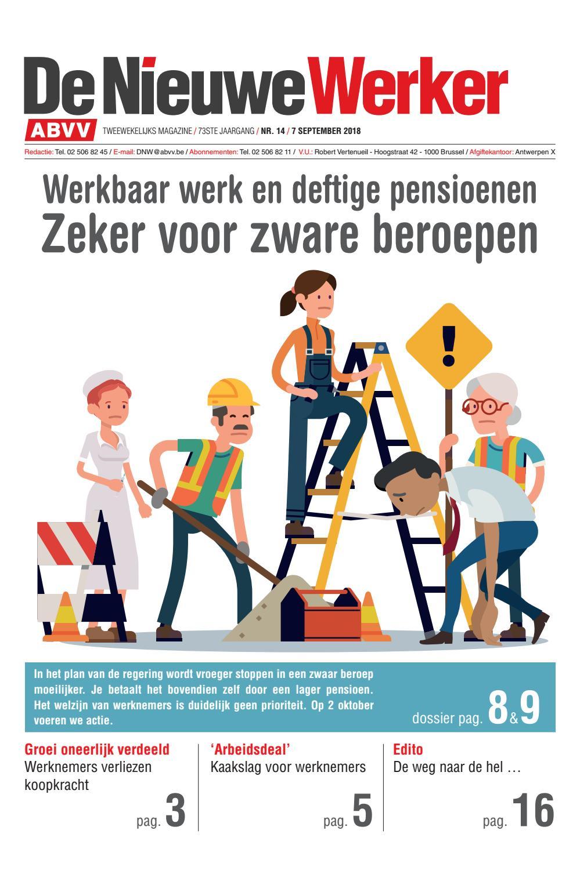 De Nieuwe Werker Nr 14 2018 By Abvv Issuu