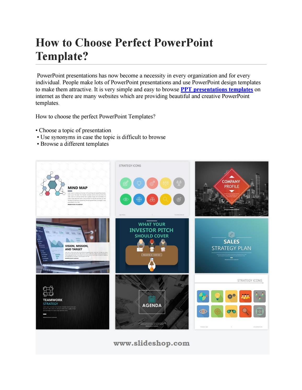 Powerpoint Design Templates By Slideshop Issuu