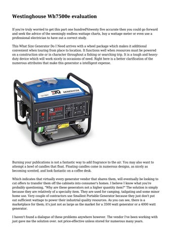 Westinghouse Wh7500e evaluation by aydentate354 - issuu