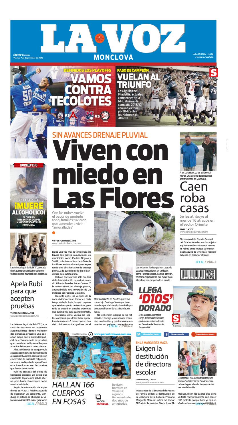 Periódico Digital 7 de Agosto 2018 by LA VOZ Monclova - issuu
