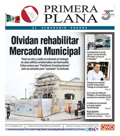 84a69c81f03 Edición del 7 al 13 de Septiembre de 2018 by Semanario Primera Plana ...