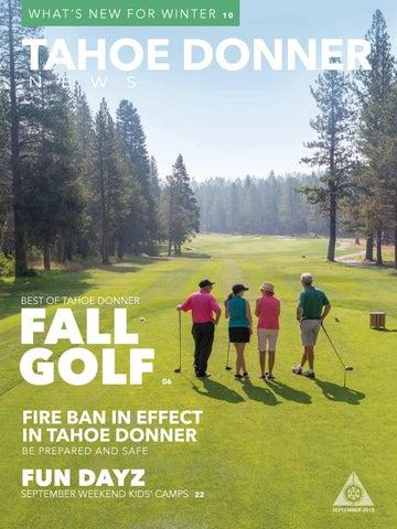 Tahoe Donner News September 2018 by Tahoe Donner Association