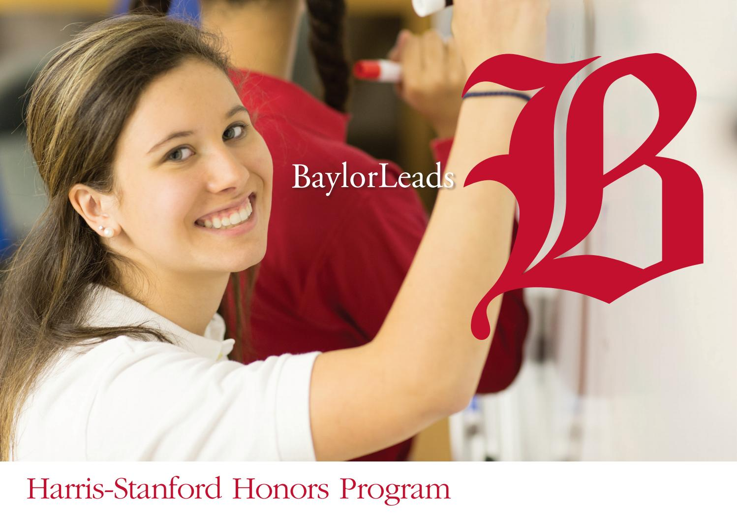 Harris-Stanford Honors Program by Baylor School - issuu