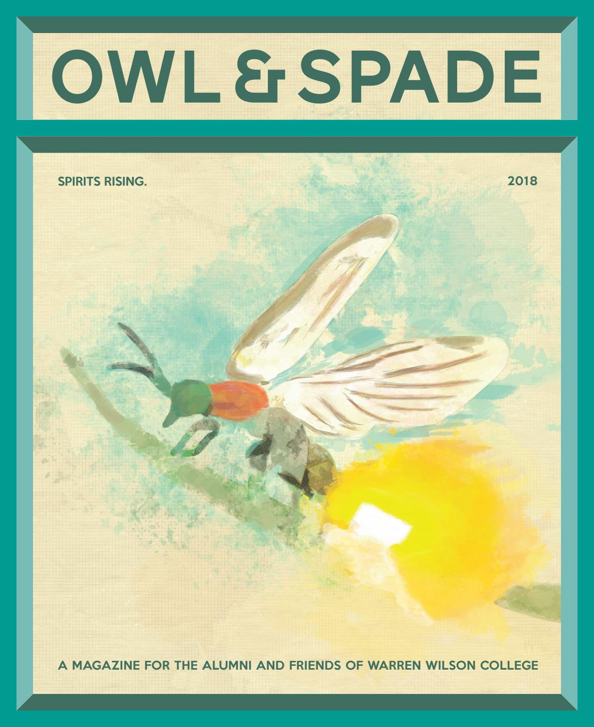 2018 Owl Spade By Warren Wilson College Issuu