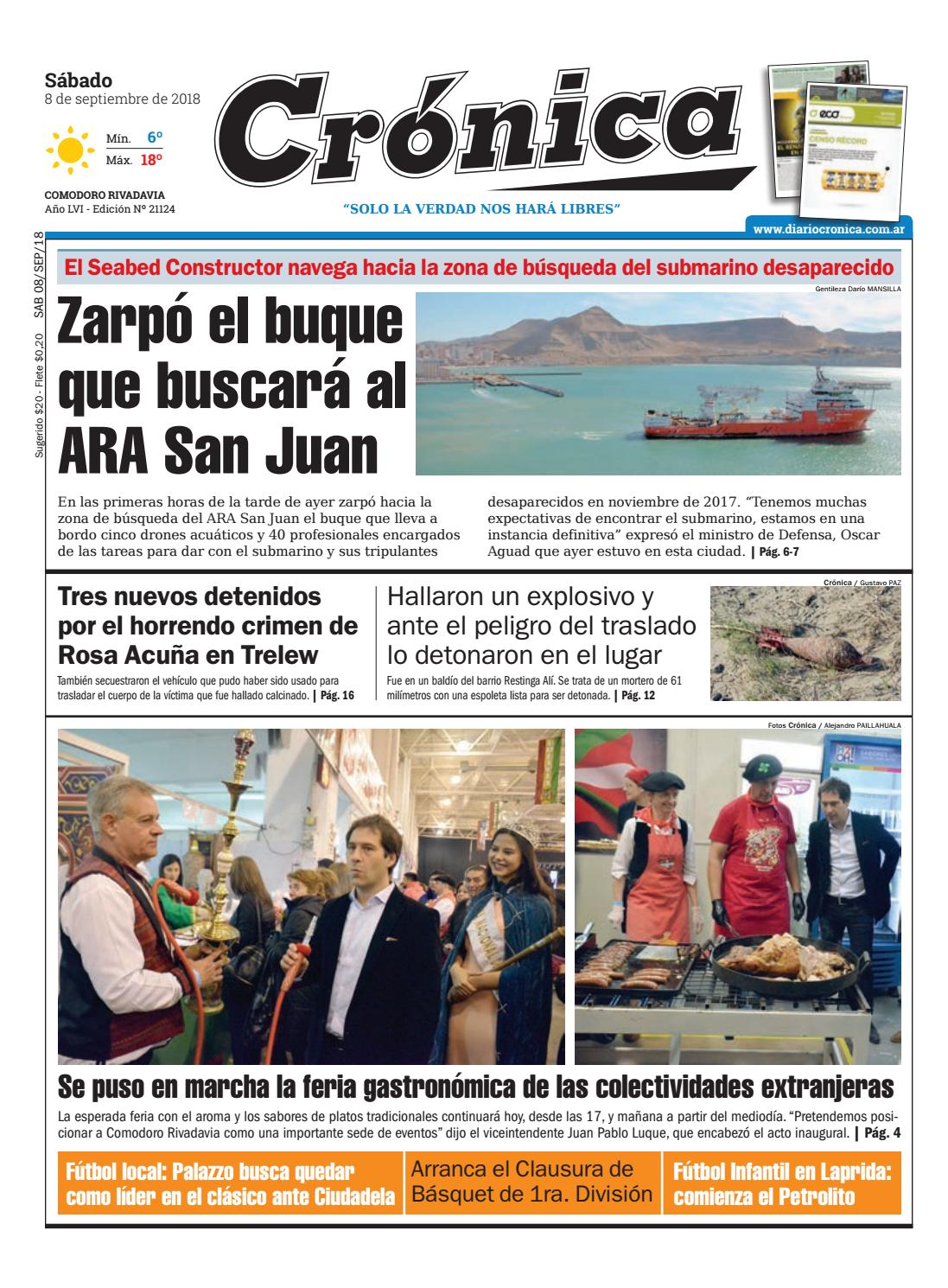 Diario cronica 08 09 2018 by Diario Crónica - issuu