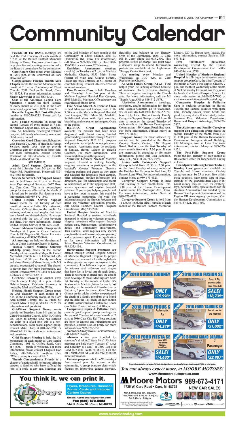 TCA 9-8-18 All Pages by Tuscola County Advertiser - issuu