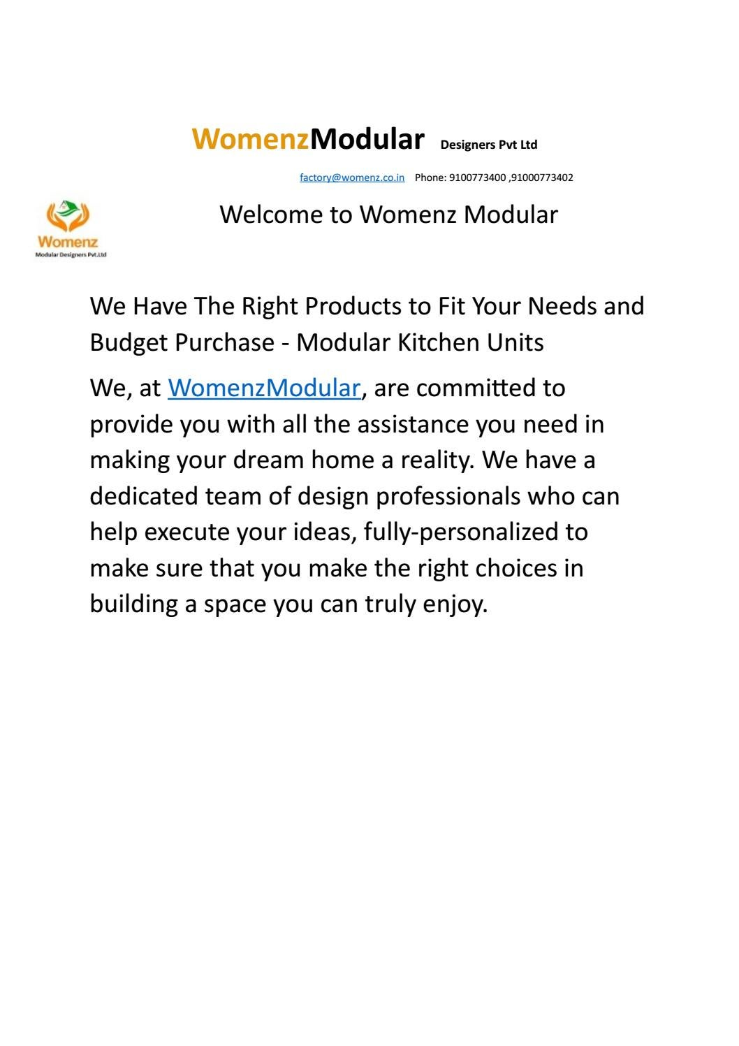 Womenz Modular Designers Pvt Ltd Kukatpally By Womenz Modular Designers Issuu