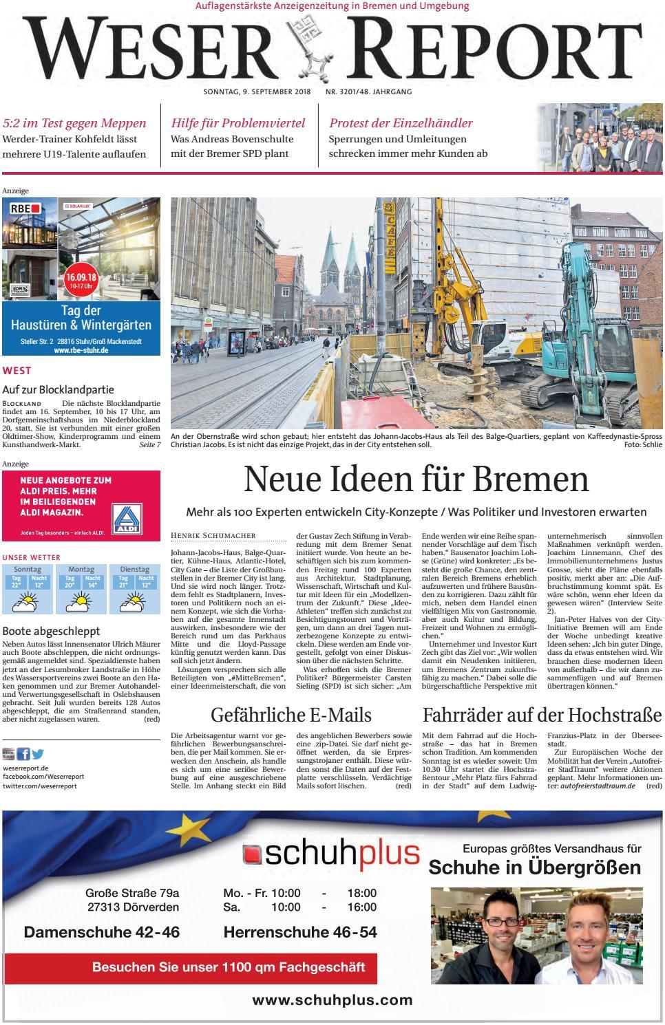 Weser Report - West vom 09.09.2018 by KPS Verlagsgesellschaft mbH - issuu