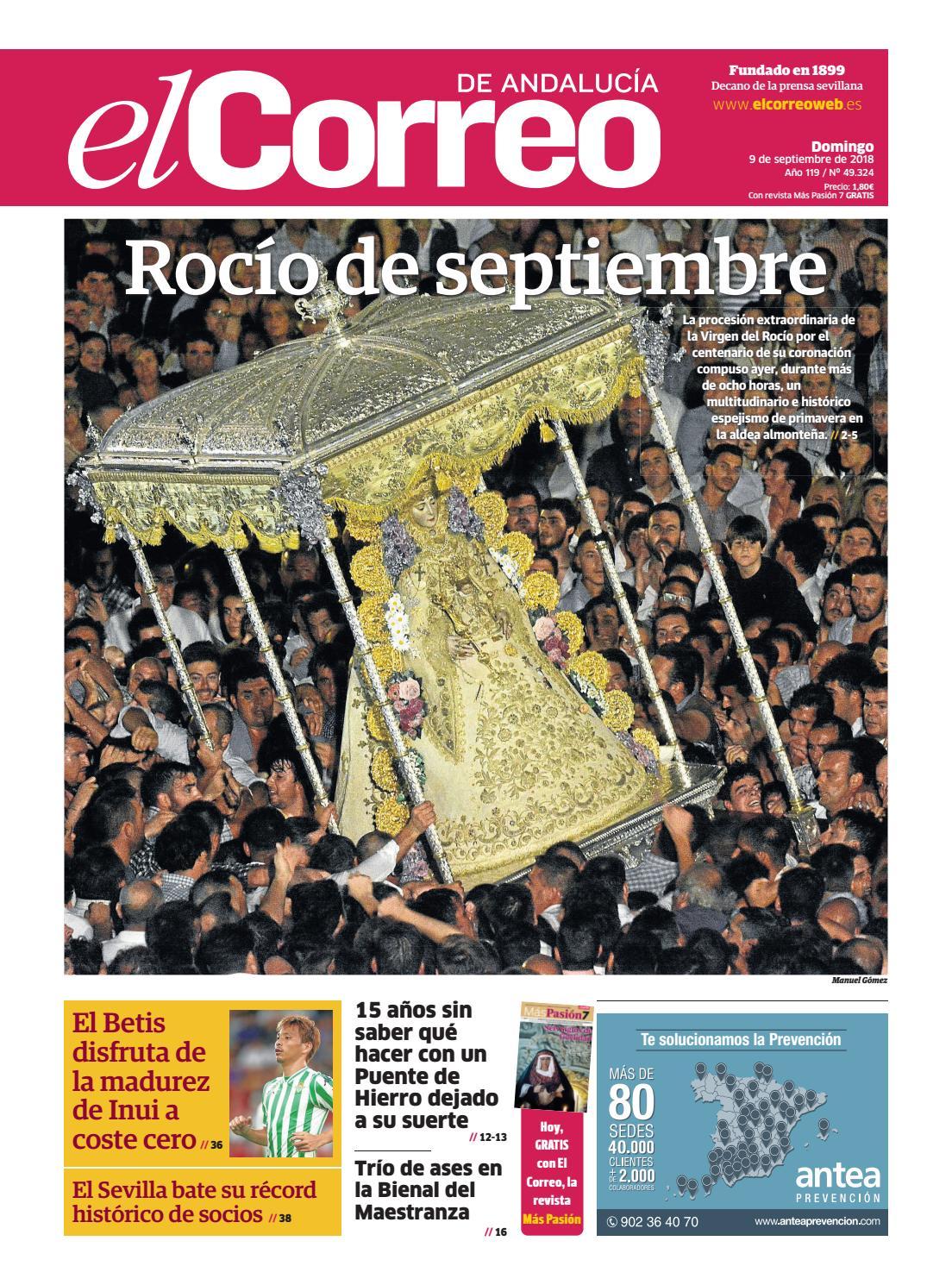 bbe3cfb1 09.09.2018 El Correo de Andalucía by EL CORREO DE ANDALUCÍA S.L. - issuu