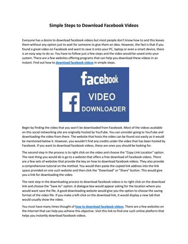 Simple Steps to Download Facebook Videos by Facebook Video