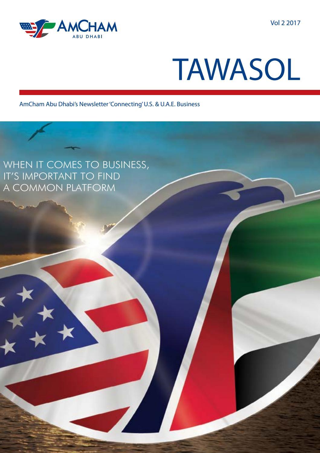 Tawasol Vol 2 2017 by AmCham Abu Dhabi - issuu