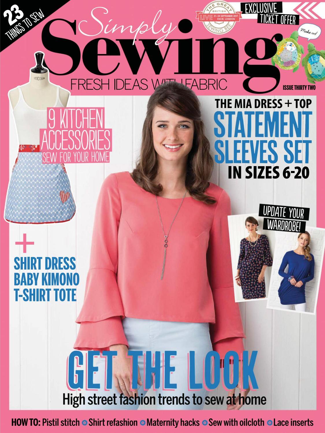 Dressmaker Sewing Machine Scissors Needles Cotton Reels Dresses Print Scarf Wrap