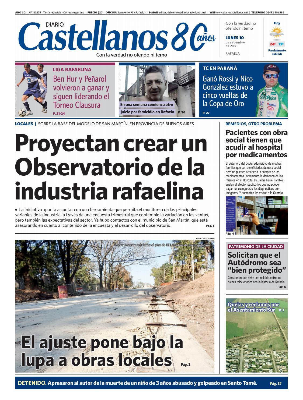 Diario Castellanos 10 09 18 by Diario Castellanos - issuu