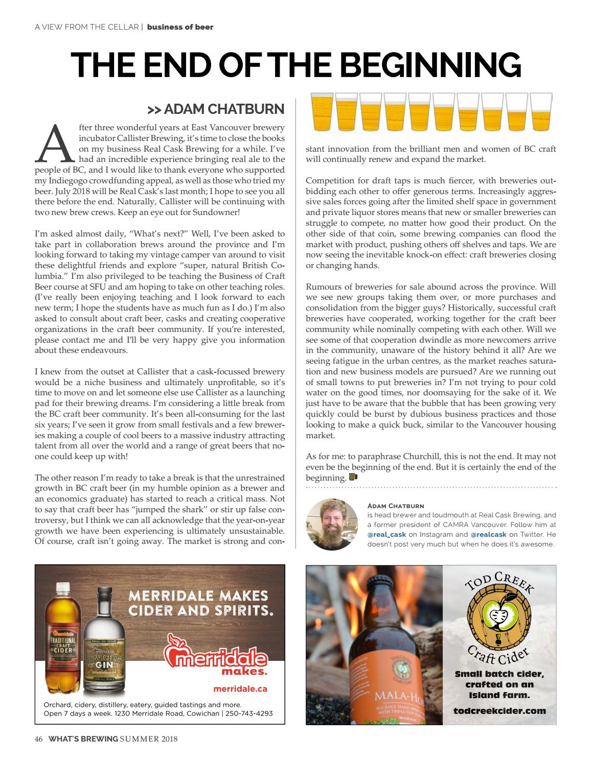 What's Brewing Summer 2018 by What's Brewing BC - issuu