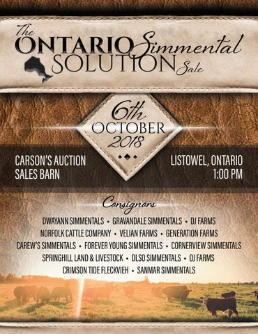 Ontario Simmental Solution Sale by Bohrson Marketing Services Ltd