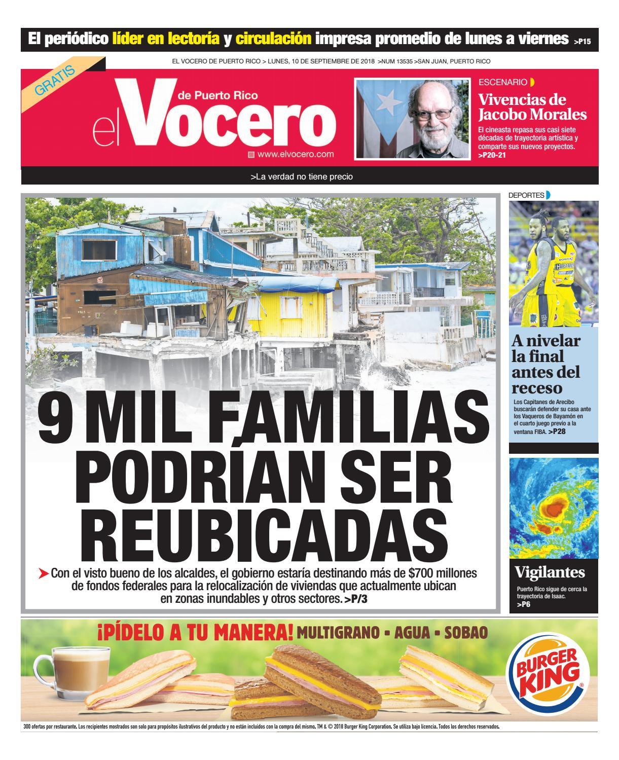 35006018f Edición del 10 de septiembre de 2018 by El Vocero de Puerto Rico - issuu