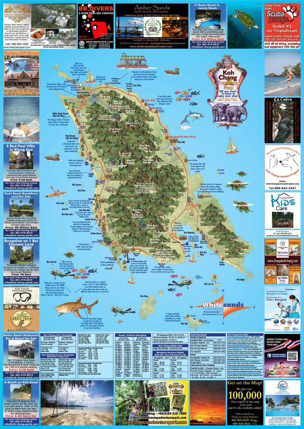 Koh Chang Treasure Map October 2018 by The Koh Chang Guide