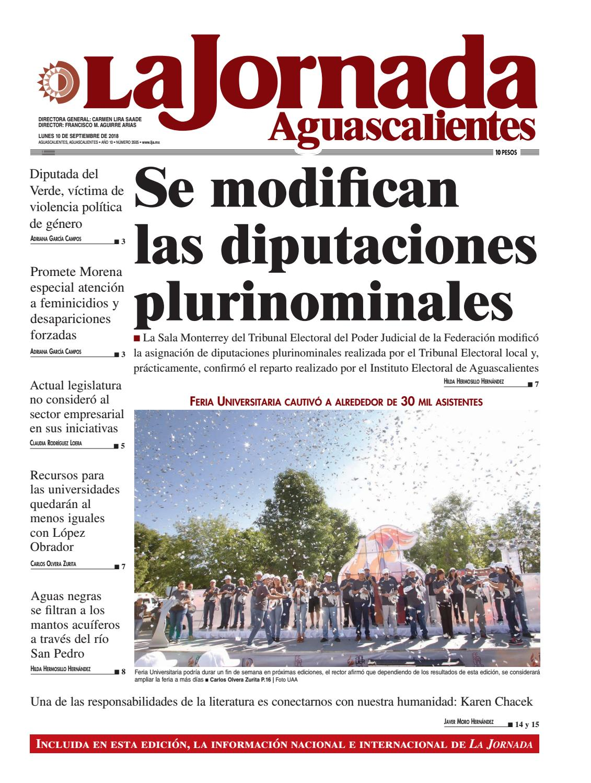 LJA10092018 by La Jornada Aguascalientes - issuu 826bb2ca0ea0b