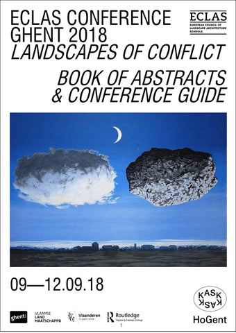 Eclas Conference Ghent 2018 Landscapes Of Conflict Book Abstracts Guide