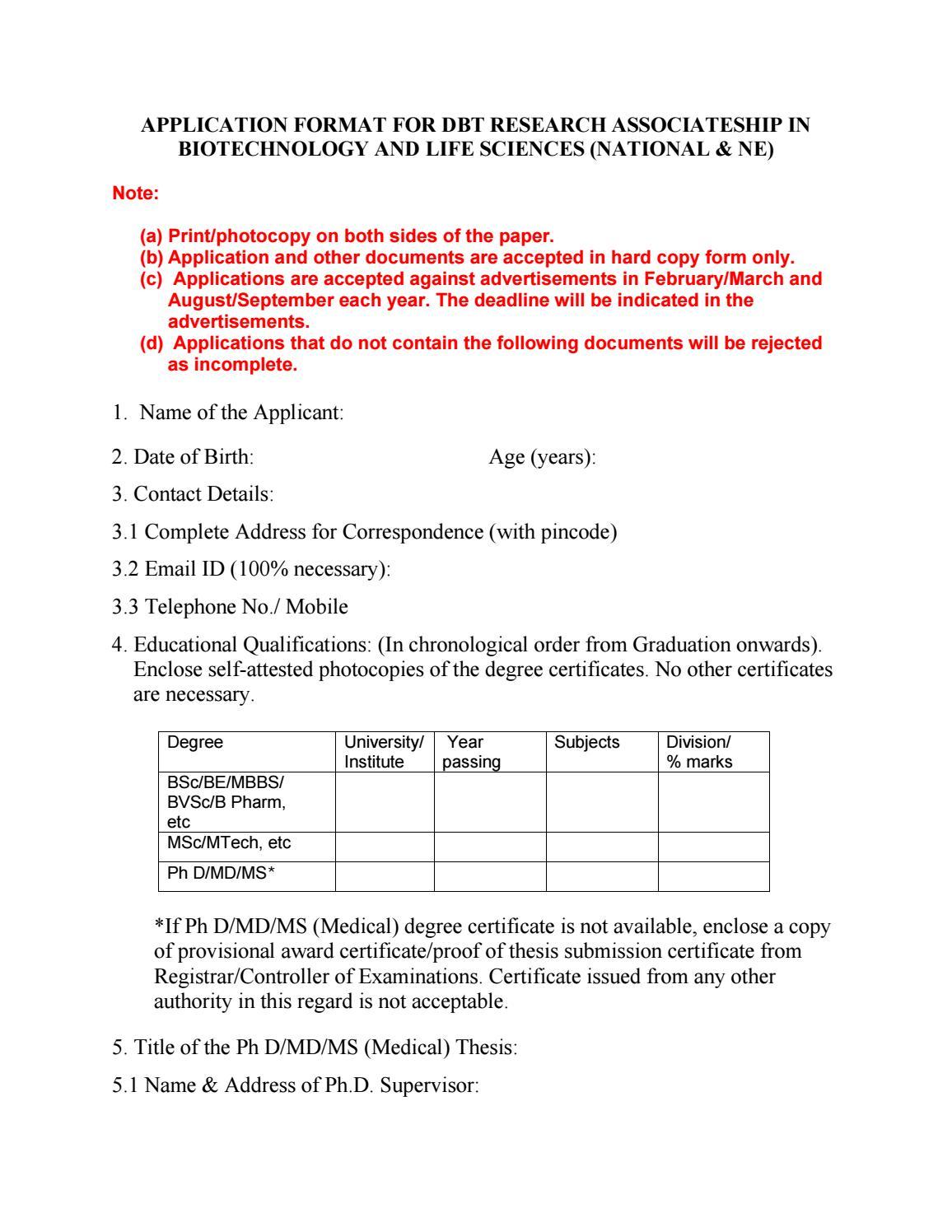 DBT-RA_Appli   Format-1 pdf by BioTecNika - issuu