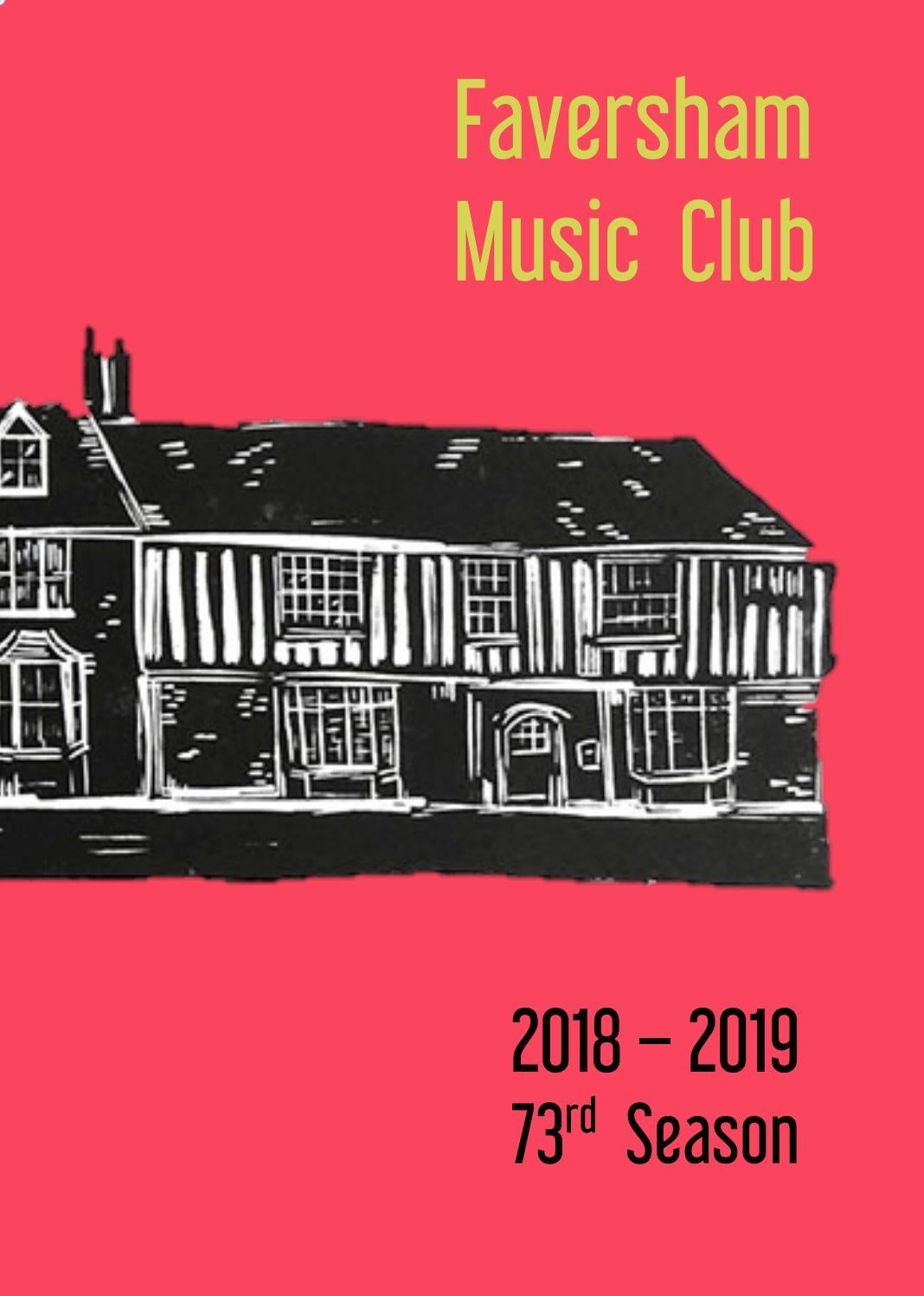 Faversham Music Club Season 2018/19 by faversham music club