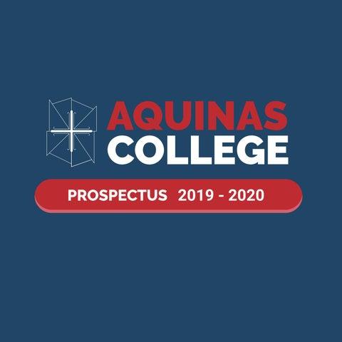 Prospectus 2019 2020 By Aquinas College Issuu