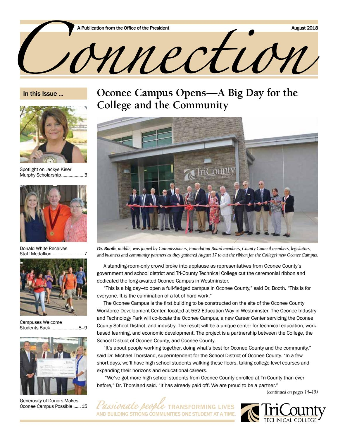 58373895075cb Connection Newsletter August 18 by Gayle Arries - issuu