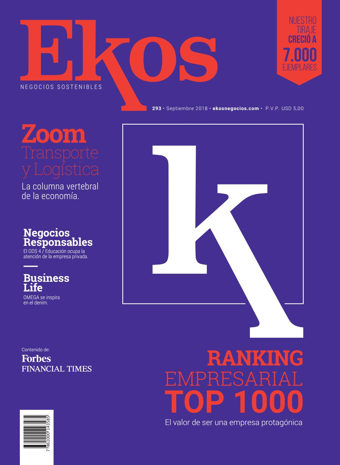 9f9b4153fea4 Revista Ekos – Ranking Empresarial TOP 1000 by Ekos - issuu