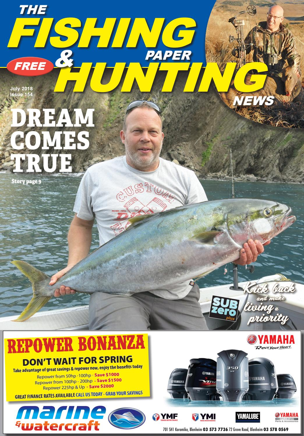 July 2018 Issue 154 The Fishing Paper & Hunting News by The