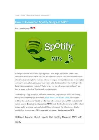 scaricare mp3 da spotify premium