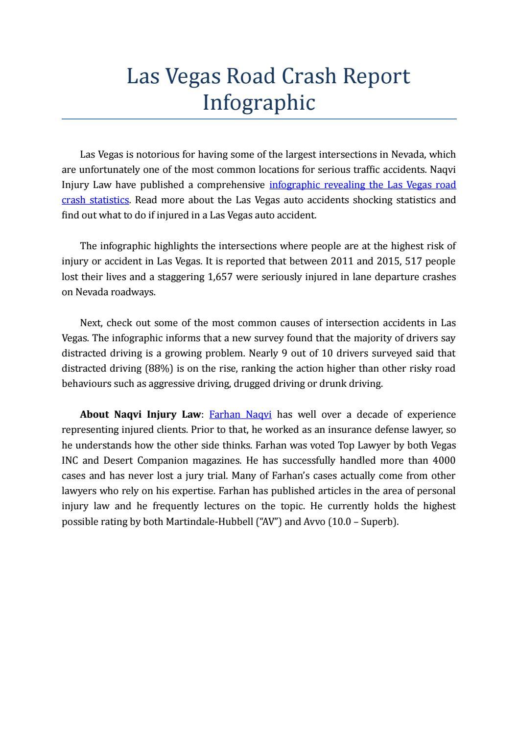 Las Vegas Road Crash Report Infographic by Akash Sharma - issuu