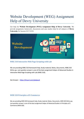 Accounting ACCT Assignment Help Devry University By - Devry university game design