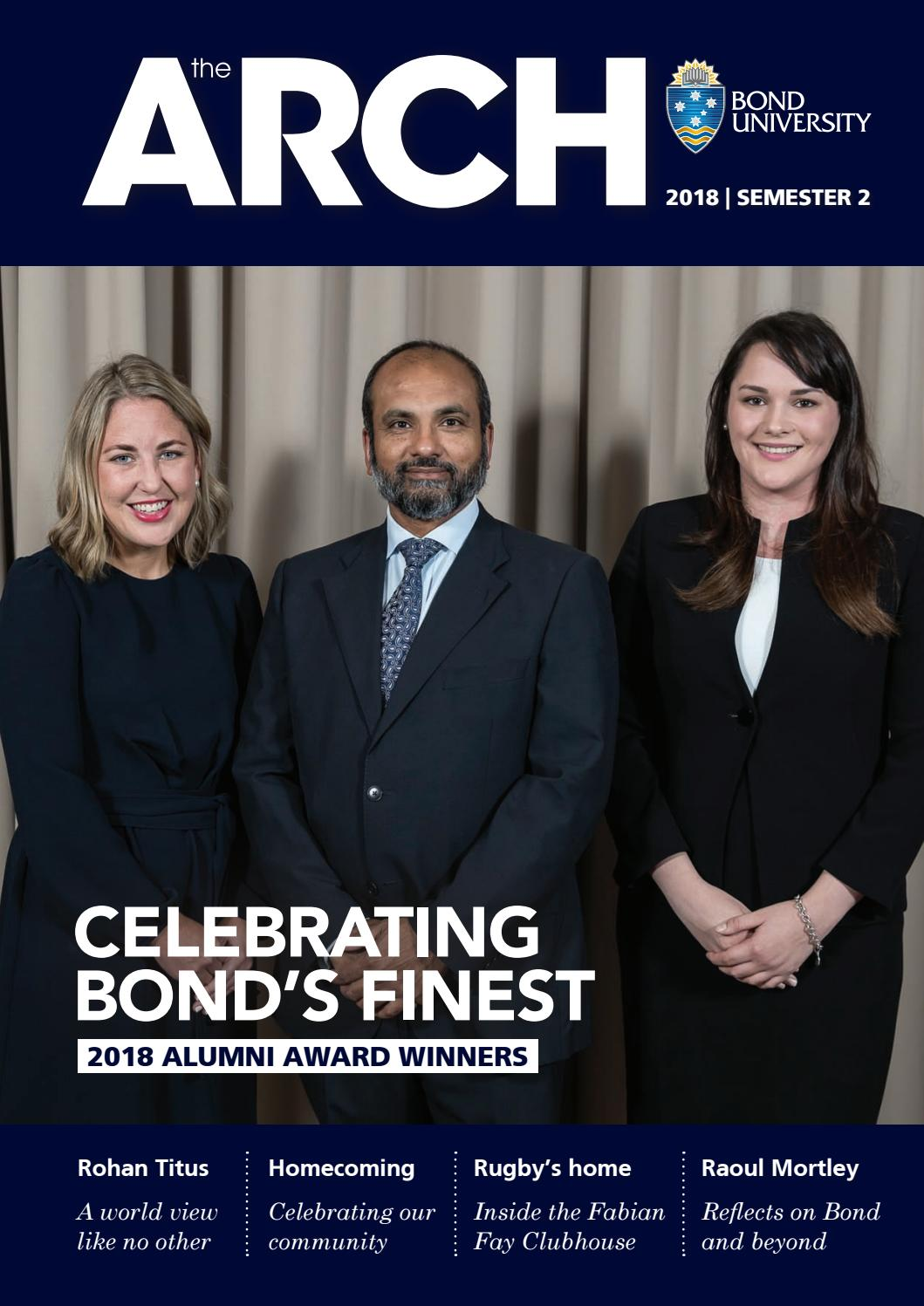 The ARCH Magazine | Issue 22 | 2018 Semester 2 by Bond University - issuu
