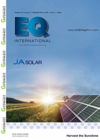 EQ Magazine September 2018 Part A by EQ Int'l Solar Media Group - issuu