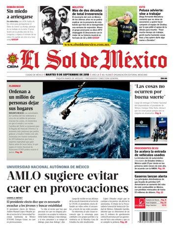 dc59582c08 El Sol de México 11 de septiembre 2018 by El Sol de México - issuu